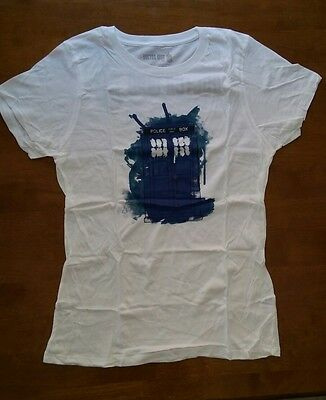 NEW! 2012 SDCC Comic Con Exclusive BBC Doctor Who Modern TARDIS T-Shirt Ladies L