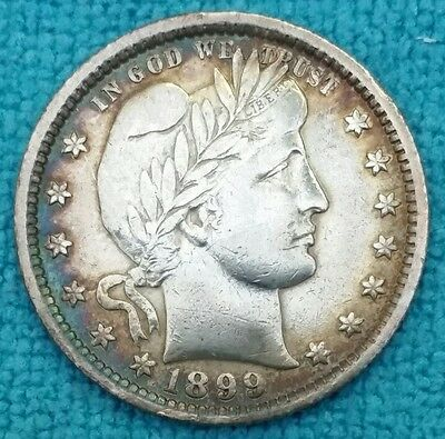 1899 25C Barber Quarter Nice RIM TONING from Album