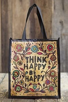 Natural Life Recycled Plastics Tote Bags . Think Happy