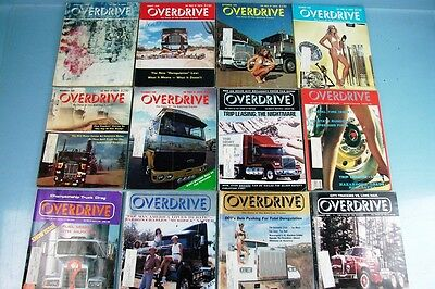 Lot Of 12 Vintage Overdrive American Truckers Magazine 1980/85/87 Mixed Issues