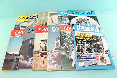 Lot of 12 Vtg 1970 1972 Overdrive American Trucker Anniversary Issues Magazines