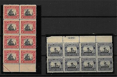 Scott 520-521 Norse American commemorative ships stamps mnh see scans block of 8