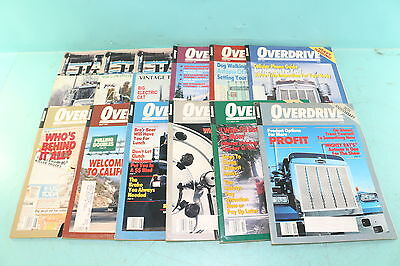 Lot 12 Vtg 1987 Overdrive Stack American Trucker Anniversary Issues Magazines