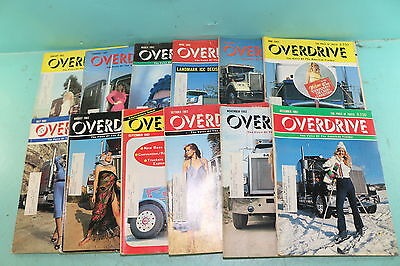 Lot of 12 Vintage 1982 Overdrive American Trucker Anniversary Issues Magazines