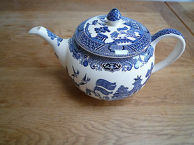 Johnson Brothers blue and white Willow Pattern Tea Pot