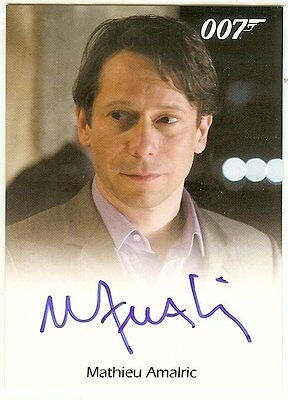 MATHIEU AMALRIC as DOMINIC GREEN Autograph 2017 JAMES BOND ARCHIVES Auto QUANTUM