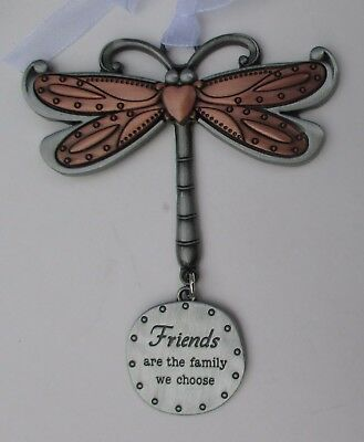 u Friends are the family we choose DRAGONFLY Let your Spirits Soar ORNAMENT