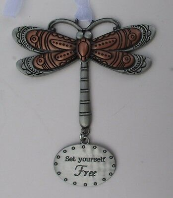 x Set yourself free DRAGONFLY Let your Spirit Soar ORNAMENT ganz car charm