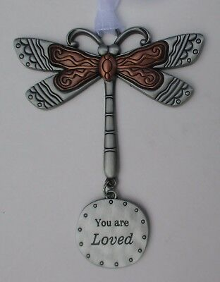 q You are loved DRAGONFLY Let your spirit soar ORNAMENT Ganz