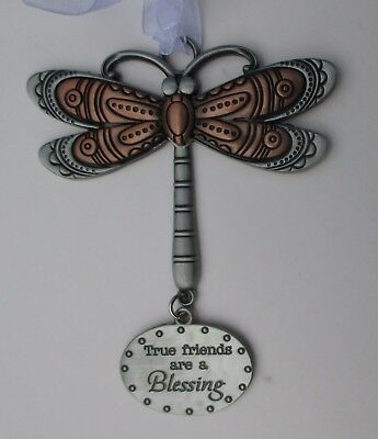 x True friends are a blessing DRAGONFLY Let your Spirit Soar ORNAMENT ganz
