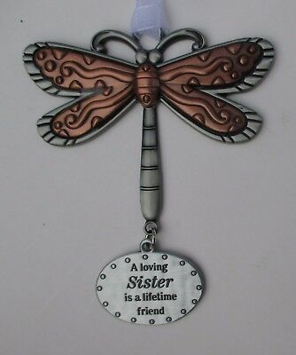t A loving sister lifetime friend DRAGONFLY Let your Spirit Soar ORNAMENT ganz