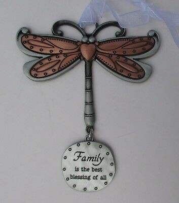 x Family is best blessing of all DRAGONFLY Let your Spirit Soar ORNAMENT ganz