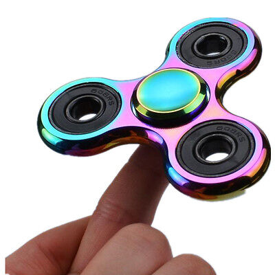 2PCS Aluminum Colorful Hand Spinner Fidget Spinner Focus toys for Autism ADHD US