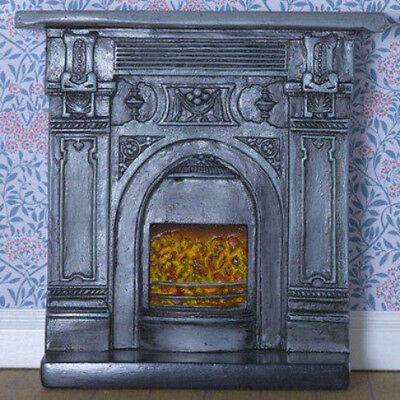 Dolls House Miniature 1:12th Scale Victorian-Style Fireplace