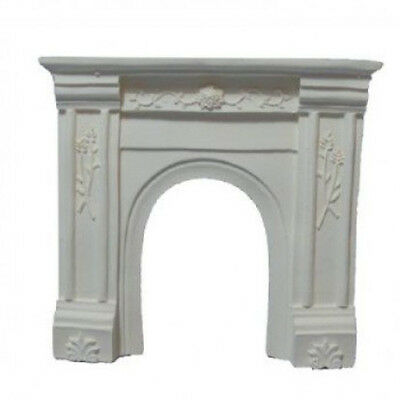 Dolls House Miniature 1:12th Scale White Fireplace