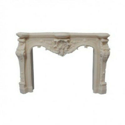 Dolls House Miniature 1:12th Scale White Ornate Carved Fireplace