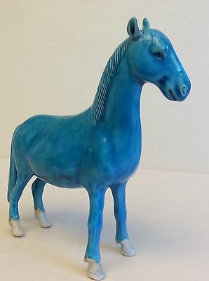 Antique Chinese Porcelain Figurine of Horse circa 1880, marked