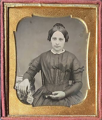 Friendly Young Woman Gorgeous Lady Beautiful Girl Pretty 1/6 Daguerreotype D417
