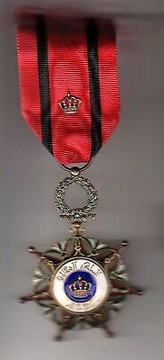 Order Medal   IRAQ KINGDOM  Order of Al Rafadhain officer insignia case document