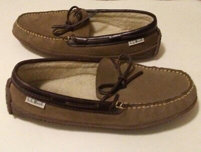 womens ll bean suede slippers size 8