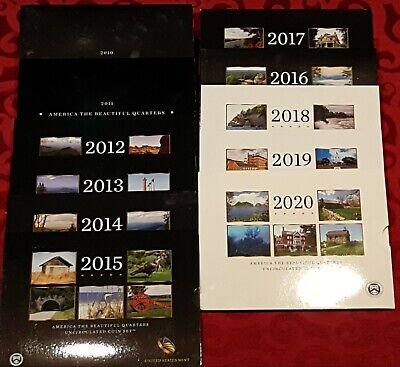 2010 - 2017 P & D America the Beautiful Park 80 Quarters FULL 8 YEARS up to date