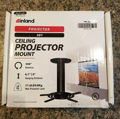 Inland 05345-BLACK Proht Universal Projector Ceiling Mount For 21-inch To