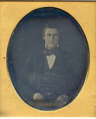 Smooth   Daguerreotype Extremely Handsome  Fashionable Young Man