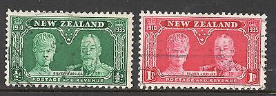 New Zealand SC #199 & 200 used - Silver Jubillie