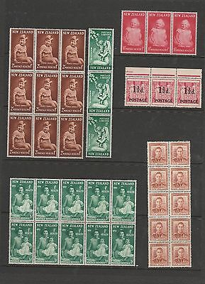 Collection of Blocks, Strips & Single Mint New Zealand Stamps. See Photos.
