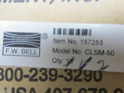 F.w. Bell Clsm-50 Closed Loop Hall Effect Current Sensor