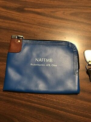Zippered Bank Bag With Lock And Key