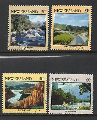 New Zealand SC #730-733 used - Rivers