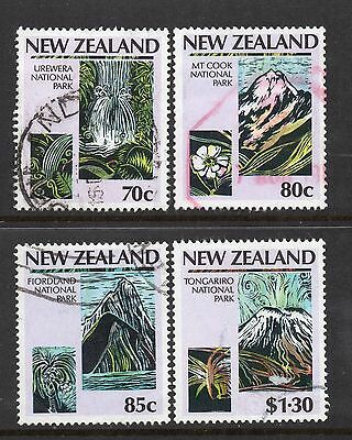 New Zealand SC #876-879 used - National Parks