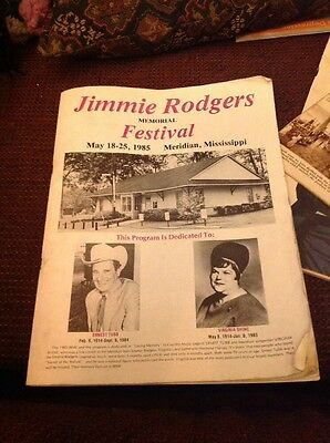 Jimmie Rodgers Memorial Festival May 18,-25 1985 program