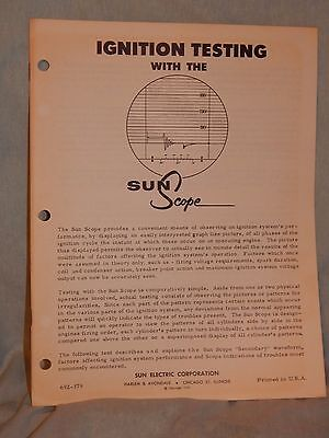 Vintage 1959, Sun Scope Ignition Testing Instructions Folder
