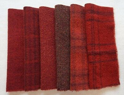 HAND DYED - Felted Wool Fabric RUG HOOKING WOOL Mill-Dyed ~ by Quilting Acres