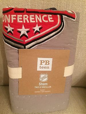 NEW  Pottery Barn Teen NHL Eastern Conference Quilted Standard Sham  HOCKEY