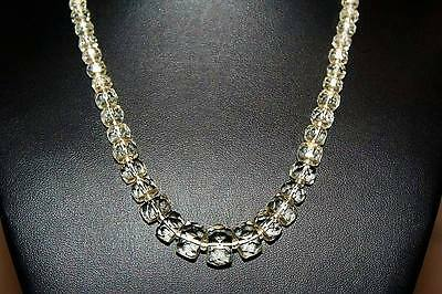 Antique Art Deco Bohemian Crystal Glass Graduated Choker Lovely Necklace NG6