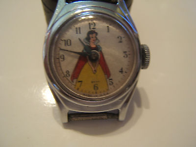 GREAT VINTAGE 1950s SNOW WHITE WATCH--WORKS!