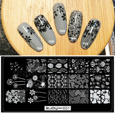 2019 New Nail Art Stamping Plates Garden Flowers Leaf Stamp Template 2Joy
