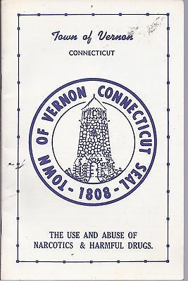 1970 TOWN OF VERNON, CT Drug Abuse Booklet