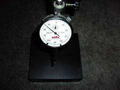 Dial Indicator Gage Mounted On A Granite Block - Excellent