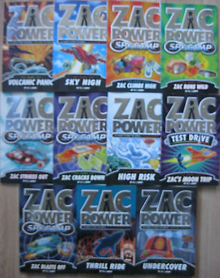 Zac Power Books Boys Spy Fiction Novels