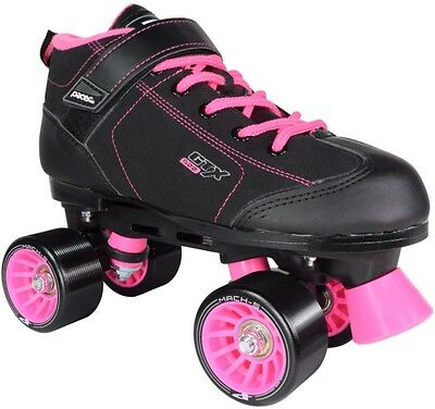 RC Sports Pacer GTX-500 Black with Pink Size 7 Roller Skates