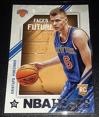 Kristaps Porzingis 2015-16 NBA Hoops Faces Of The Future Rookie Insert Card