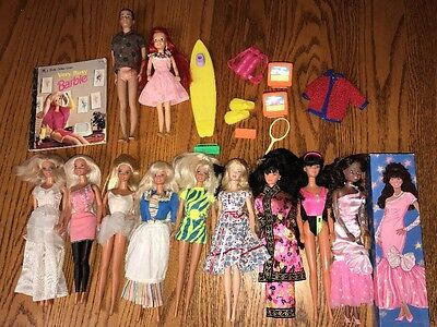 Vintage Barbie Doll Lot Clothes Barbie in Holland dress Accessories Skipper Ken
