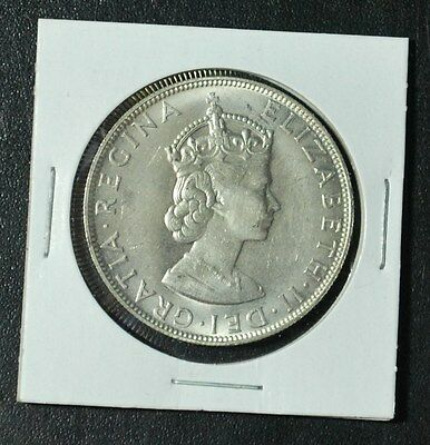1964 Bermuda One Crown .500 Silver Coin Foreign QEII