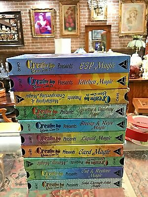"TEN ""Creative Magic You-Can-Do Presents"" VHS Tapes! How RARE? VERY NICE"