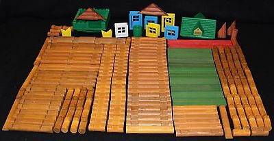 Lincoln Logs - HUGE lot of 200 pieces - lot A