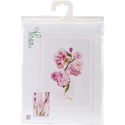 "Prunus On Aida Counted Cross Stitch Kit 11.75""X7.75"" 18 Count 499994662446"
